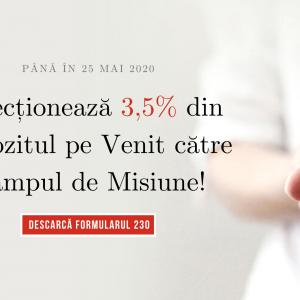 3,5% din Impozitul pe Venit pentru Misiune