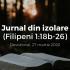 Jurnal din izolare (Filipeni 1:18b-26) – Devoțional, 27 martie 2020