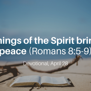 Things of the Spirit bring peace (Romans 8:5-9) – Devotional, April 28
