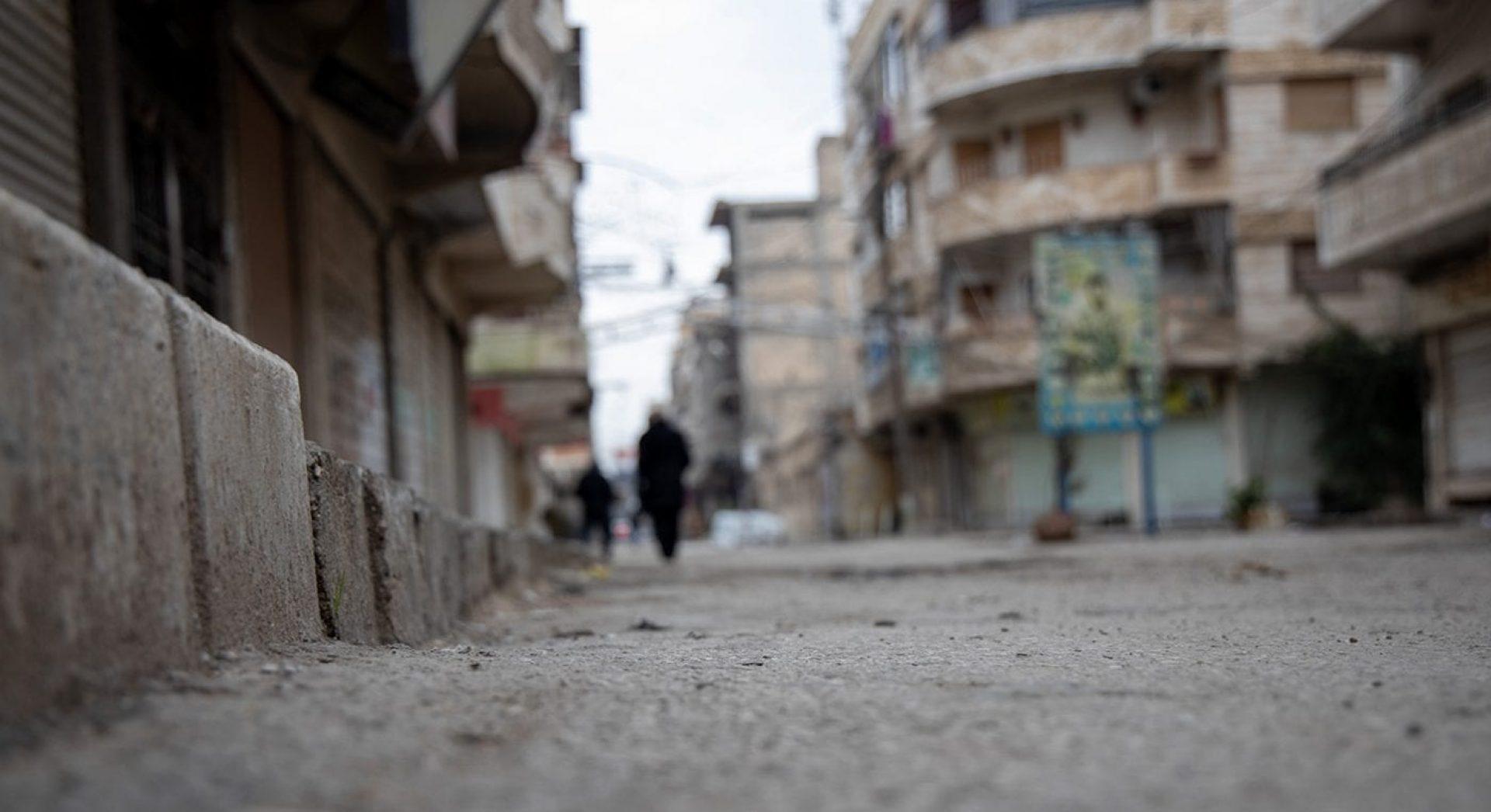 Aici este locul unde a zăcut Falit, încercând să evite a fi omorât de către teroriștii ISIS.