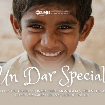 Un dar special – Cadouri pentru copii cu ocazia sărbătorii Nașterii Domnului