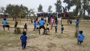 Copiii de la Grădinița Creștină din satul Kachioka
